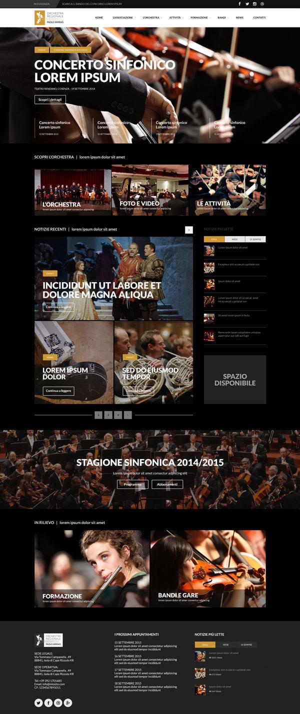sito web orchestra regionale della calabria