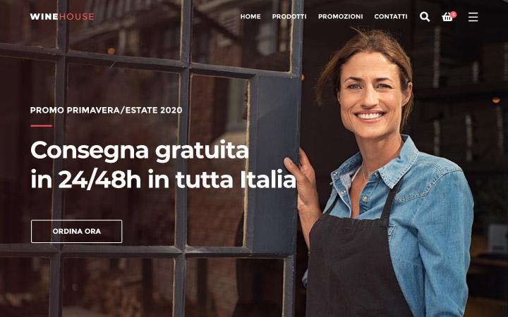 Creazione siti web per vendita di vino