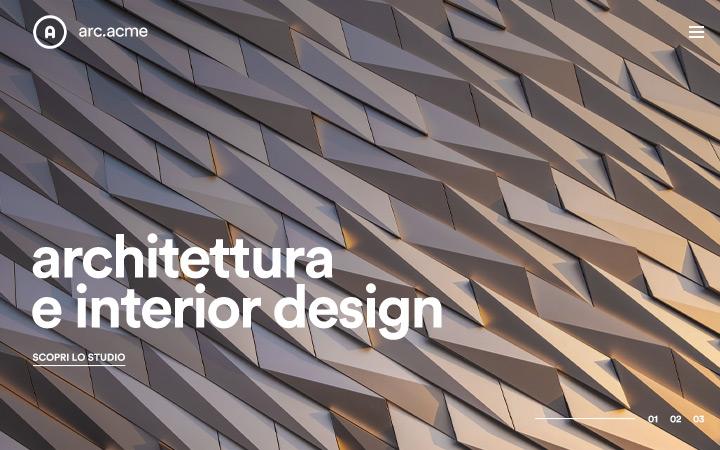 Creazione sito portfolio per studio di architettura