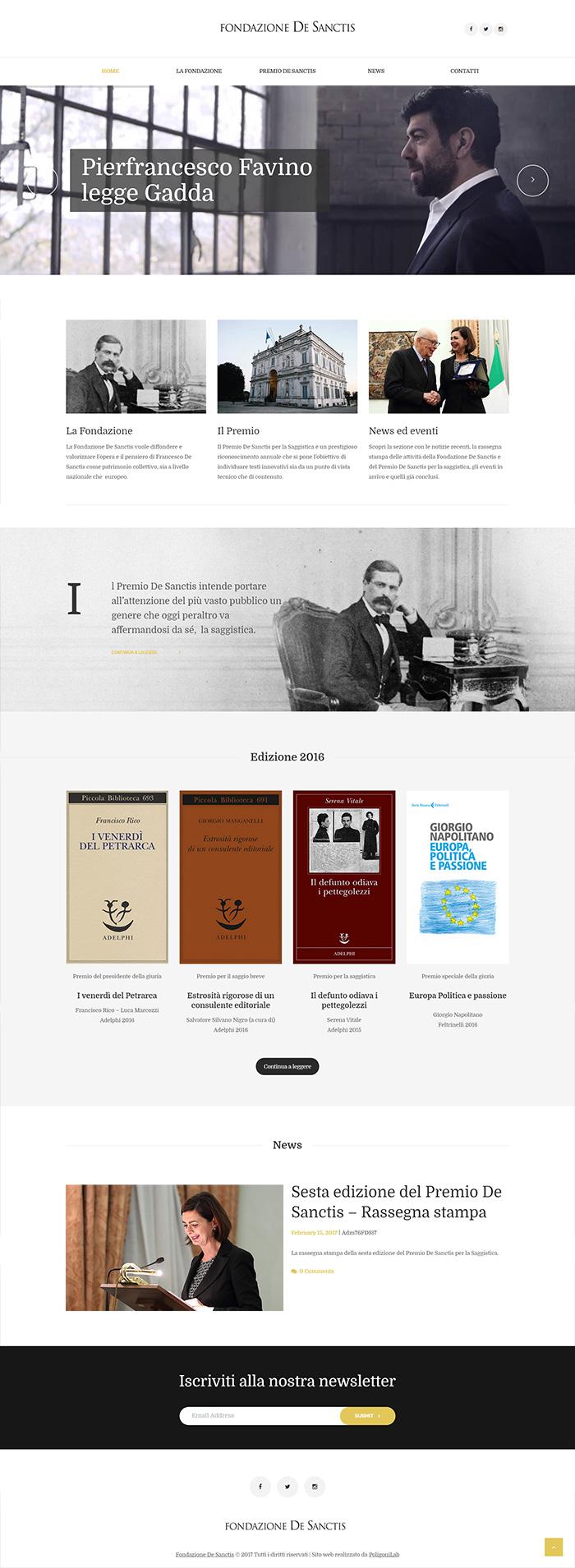 crazione sito web dinamico - fondazione de sanctis saggistica