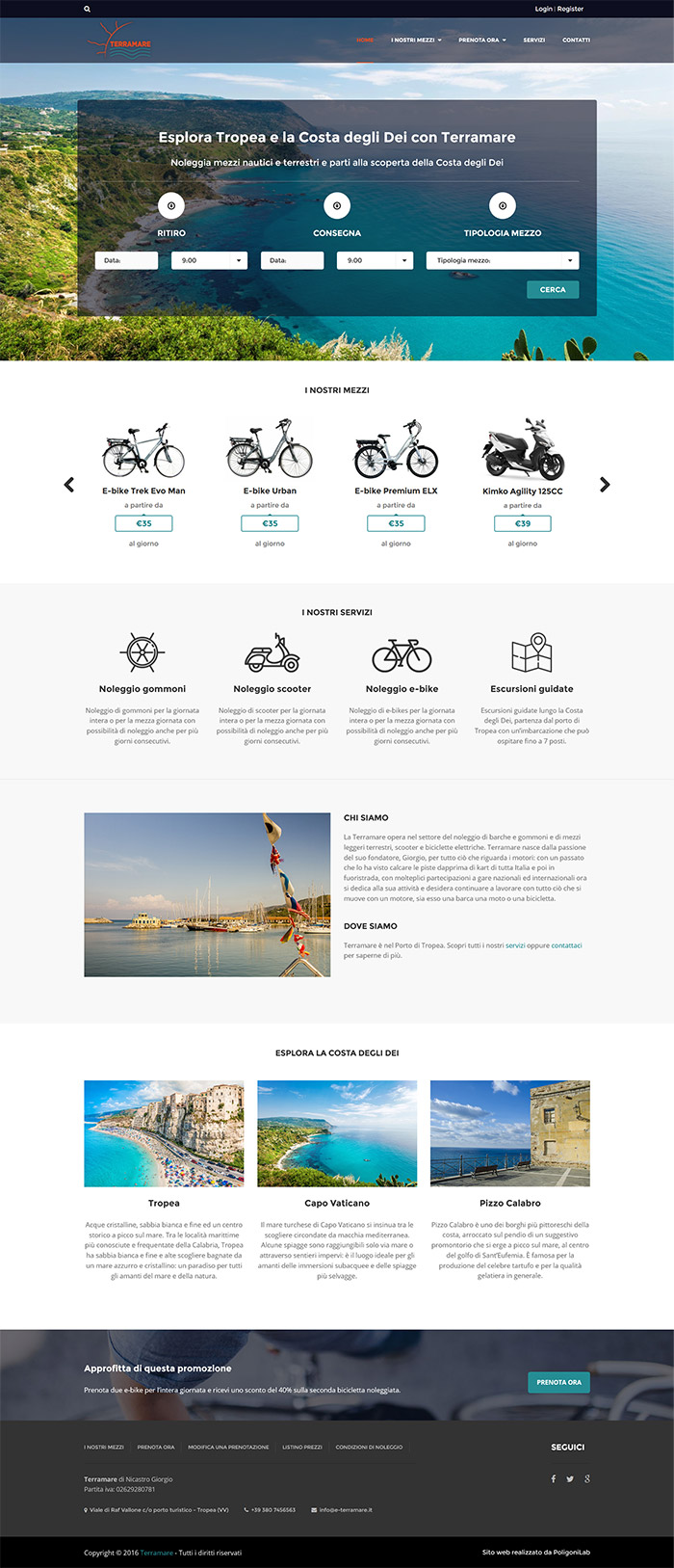 creazione sito web agenzia noleggio veicoli