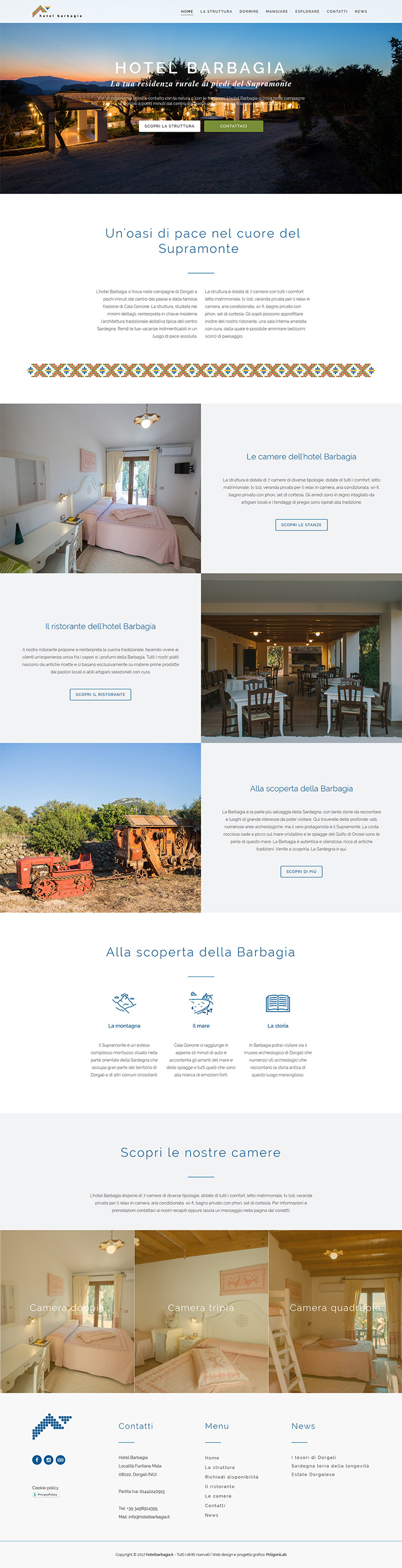creazione sito web dinamico hotel albergo ristorante