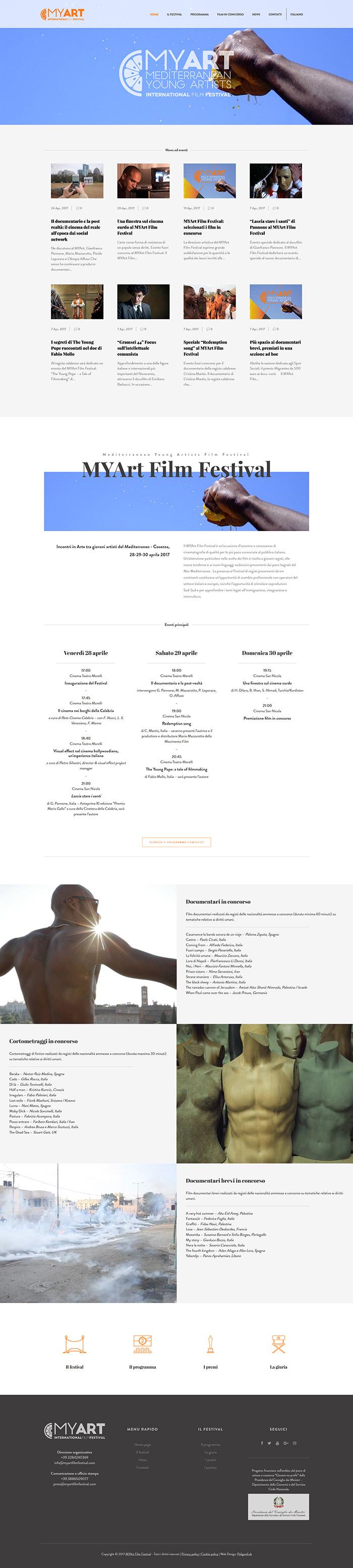 creazione sito web festival internazionale del cinema