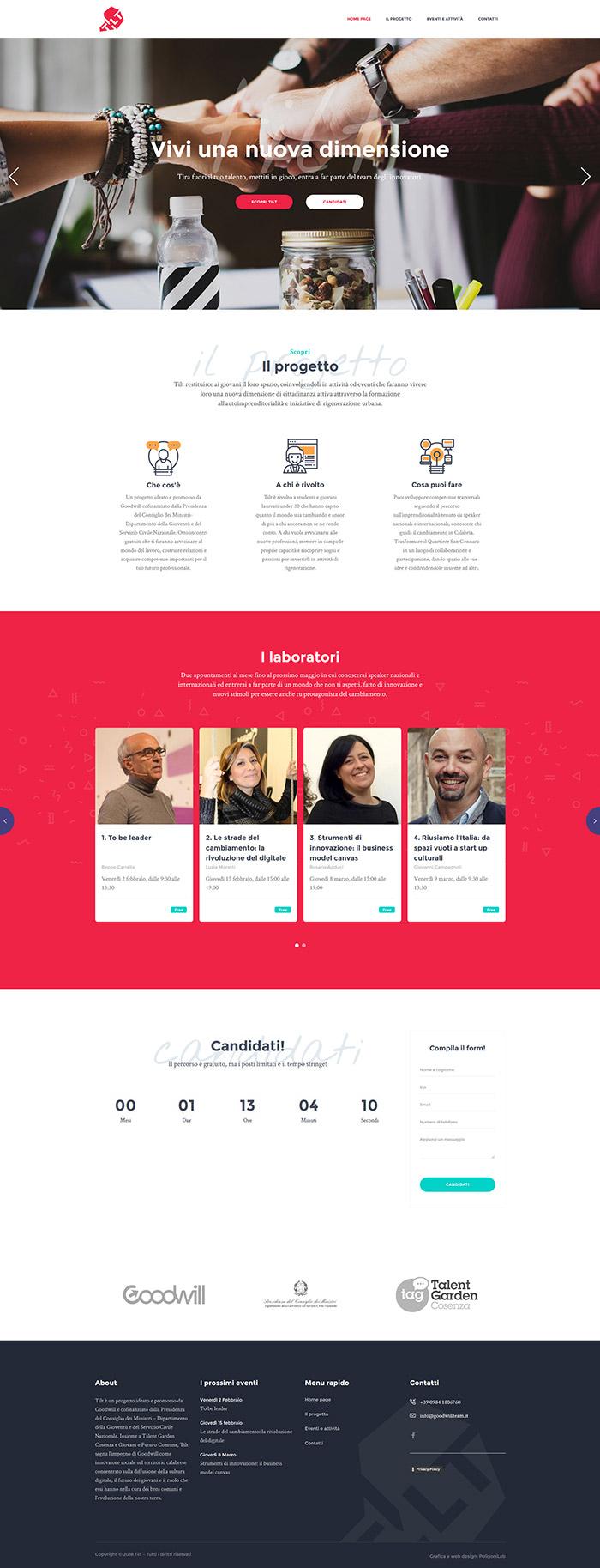 creazione sito web progetto tilt unical