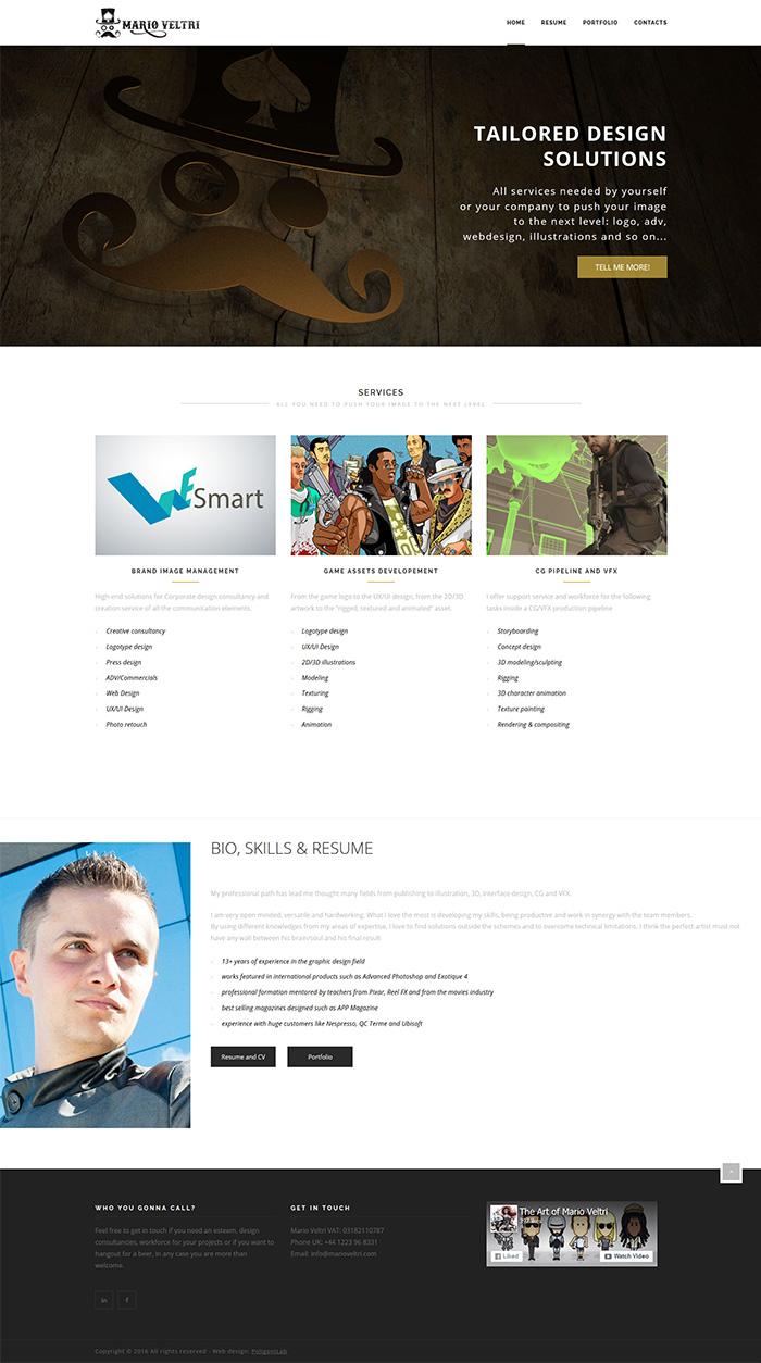 creazione sito web visual designer