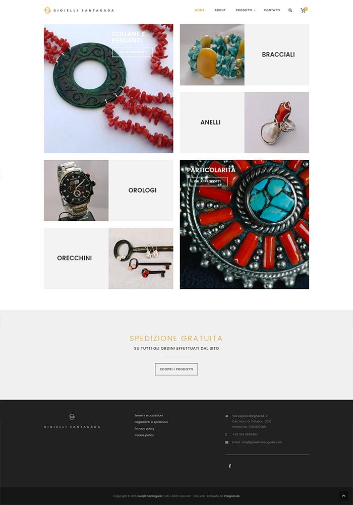 crezione sito ecommerce gioielli calabria