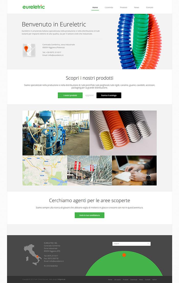 eureletric - creazione sito web dinamico ecommerce