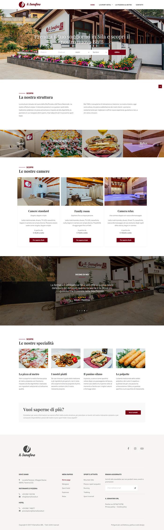 il semaforo bed and breakfast creazione sito web con sistema di prenotazione camere