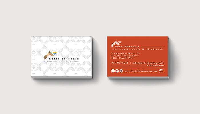 progettazione logo e biglietti da visita hotel ristorante