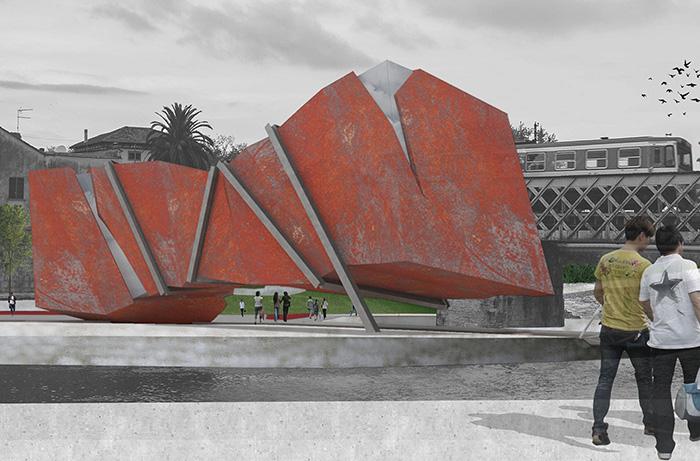 render e fotomontaggi tavole architettura infopoint cosenza